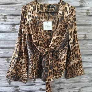 NWT Missguided Leopard Print Blouse 4